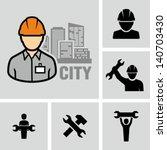 industrial worker | Shutterstock .eps vector #140703430