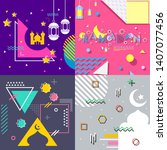 ramadan abstract background... | Shutterstock .eps vector #1407077456