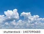 blue sky background with clouds | Shutterstock . vector #1407090683