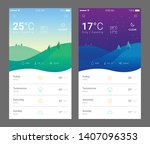 mobile weather application ui   ...