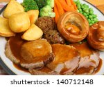 Roast Pork Sunday Dinner With...