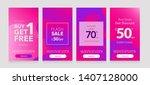 dynamic modern fluid mobile for ... | Shutterstock .eps vector #1407128000