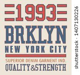 brooklyn new york city denim... | Shutterstock .eps vector #1407130226