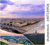 Collage Urban Sunset Views Above - Fine Art prints