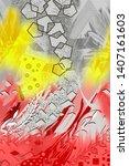 digital abstract watercolor...   Shutterstock . vector #1407161603