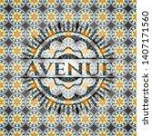 avenue arabesque emblem. arabic ...   Shutterstock .eps vector #1407171560