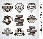 vintage premium quality labels. ... | Shutterstock .eps vector #140718019