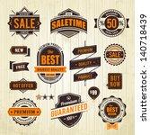 grunge sale emblems. set of... | Shutterstock .eps vector #140718439