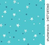 whimsical starry sky seamless... | Shutterstock .eps vector #1407185360