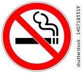 no smoking sign on white... | Shutterstock .eps vector #1407185519