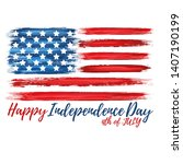 happy independence day 4th of...   Shutterstock .eps vector #1407190199