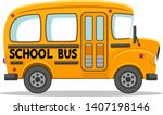 empty school bus on a white... | Shutterstock .eps vector #1407198146