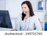Beautiful Call Center Agent...