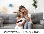 woman and small preschool...   Shutterstock . vector #1407221600