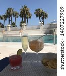 a poolside shot from spain ...   Shutterstock . vector #1407227909