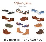 men's shoes collection. various ... | Shutterstock .eps vector #1407235490