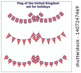 bright set with flags united...   Shutterstock .eps vector #1407247469