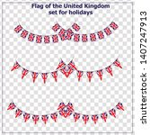 bright set with flags united...   Shutterstock .eps vector #1407247913