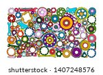 auto spare parts and gears ...   Shutterstock .eps vector #1407248576