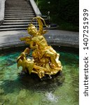 Golden Angel Fountain At...