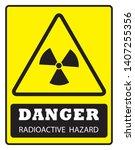 danger radioactive  hazard sign ... | Shutterstock .eps vector #1407255356