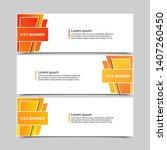 set of three abstract vector... | Shutterstock .eps vector #1407260450