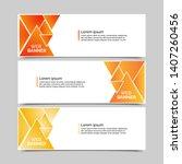 set of three abstract vector... | Shutterstock .eps vector #1407260456