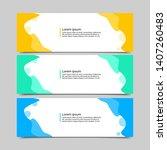 set of three abstract vector... | Shutterstock .eps vector #1407260483