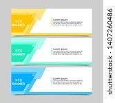 set of three abstract vector... | Shutterstock .eps vector #1407260486