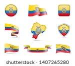 ecuador flags collection. flags ...   Shutterstock .eps vector #1407265280