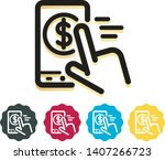 pay money icon   digital wallet ... | Shutterstock .eps vector #1407266723
