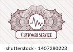 red abstract rosette with... | Shutterstock .eps vector #1407280223