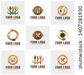 set of modern minimalist vector ... | Shutterstock .eps vector #1407281930