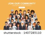 join our community. crowd of... | Shutterstock .eps vector #1407285110