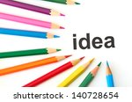 multicolored pencils | Shutterstock . vector #140728654