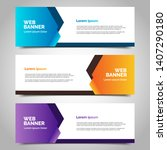 set of three abstract vector... | Shutterstock .eps vector #1407290180