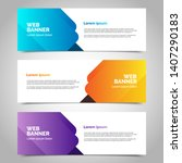 set of three abstract vector... | Shutterstock .eps vector #1407290183