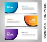 set of three abstract vector... | Shutterstock .eps vector #1407290186