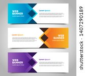 set of three abstract vector... | Shutterstock .eps vector #1407290189