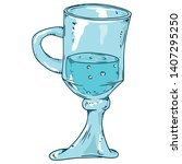 glass cup with a handle. vector ...   Shutterstock .eps vector #1407295250