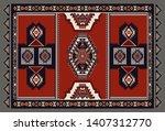 colorful ornamental vector... | Shutterstock .eps vector #1407312770