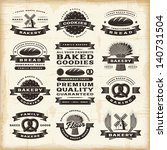 vintage bakery labels set | Shutterstock . vector #140731504