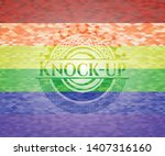 knock up on mosaic background...   Shutterstock .eps vector #1407316160