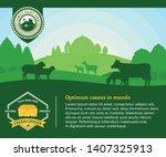 modern style cheese logo. dairy ... | Shutterstock .eps vector #1407325913