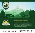 modern style cheese logo. dairy ...   Shutterstock .eps vector #1407325919