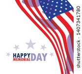 happy memorial day card with...   Shutterstock .eps vector #1407341780