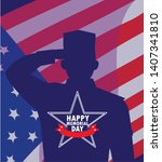 happy memorial day card with...   Shutterstock .eps vector #1407341810