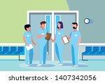 group of professionals doctors... | Shutterstock .eps vector #1407342056
