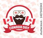 beard glasses canadian flags...   Shutterstock .eps vector #1407343343