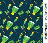background drum flag palm...   Shutterstock .eps vector #1407344396